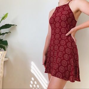 Brandy Melville Abigail red patterned dress